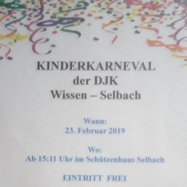 Die DJK Wissen-Selbach lädt ein zum Kinderkarneval