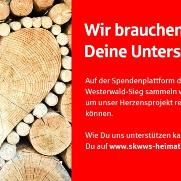"""Projekt """"Heimatliebe"""" – Eure Unterstützung für die DJK Wissen- Selbach"""