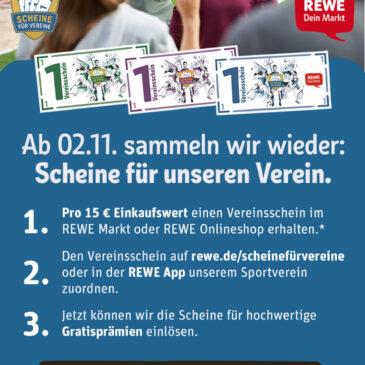 """Wir sammeln wieder """"Scheine für Vereine"""""""