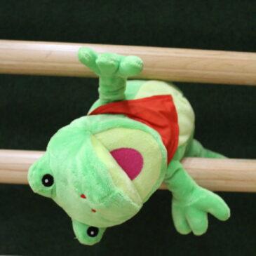 Laufen, Springen und Toben mit Freddi dem Frosch