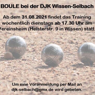 Neueröffnung einer Boule-Gruppe ab dem 31.8.